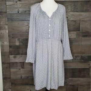 Long Sleeve Floral Print Dress 41 Hawthorn XL
